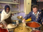 Ian 'Herbie' Hemphill at a spice shop in Jaipur, India