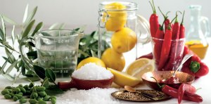 Lemons with savoury flavours